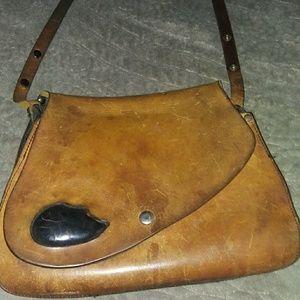 1970 vintage leather handbag